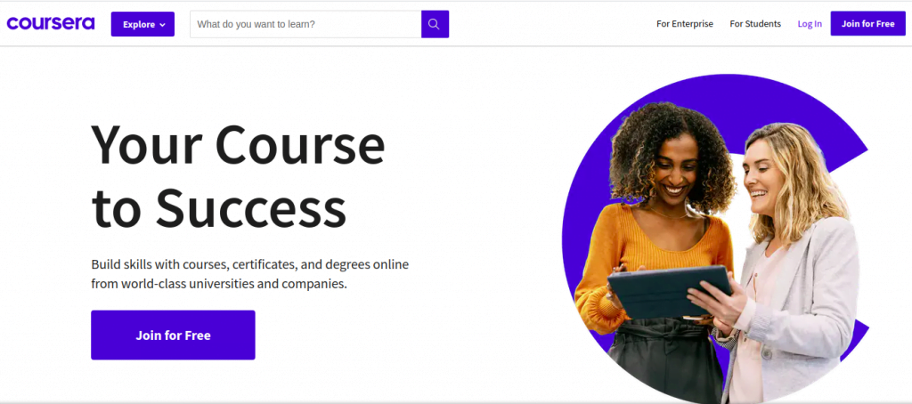 coursera frontpage new